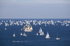 The Barcolana regatta 2010. The Barcolana regatta or Autumn Cup is an historical european sailing race born in 1969 thanks to the Società Velica di Barcola e Stock Photos