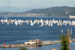 The Barcolana regatta. An important international sport event, Trieste Italy Royalty Free Stock Photography