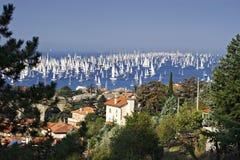 Barcolana regatta Stock Images