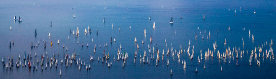 Barcolana regatta of Trieste. One of the biggest regatta in the world: the Barcolana Stock Photography