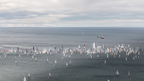Barcolana regatta of Trieste. One of the biggest regatta in the world: the Barcolana Stock Photos