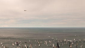 Barcolana regatta of Trieste. One of the biggest regatta in the world: the Barcolana Royalty Free Stock Photos