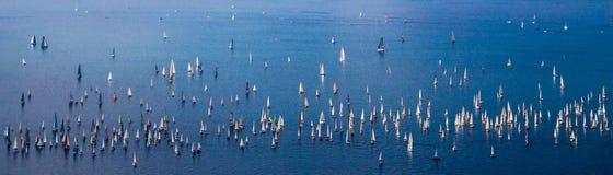 Barcolana-Regatta von Triest stockfotografie