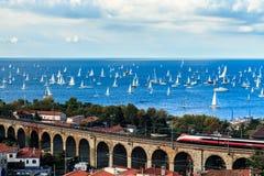 Barcolana regatta w zatoce Trieste Zdjęcia Royalty Free