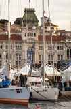 Barcolana, 2013. TRIESTE, ITALY - 11 OCTOBER 2013:  View of Trieste during the time of 45. Barcolana regatta on October 11, 2013 Royalty Free Stock Photo