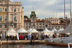 Barcolana, 2013. TRIESTE, ITALY - 11 OCTOBER 2013:  View of Trieste during the time of 45. Barcolana regatta on October 11, 2013 Stock Images