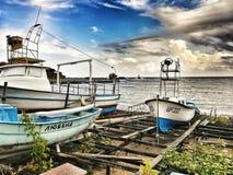 Barcos, ahtopol, Bulgária, mar Imagens de Stock