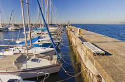 Barcos amarrados Fotos de Stock Royalty Free