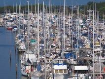 Barcos amarrados Foto de archivo libre de regalías