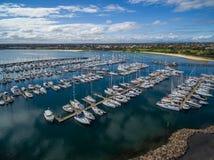Barcos amarrados no porto de Sandringham Imagem de Stock Royalty Free