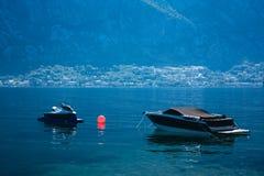 Barcos, anj del  de PrÄ, Montenegro Imagenes de archivo