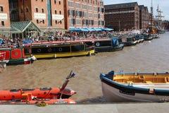 Barcos atracados Foto de archivo libre de regalías