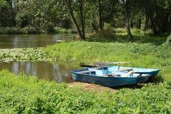 Barcos azuis Fotografia de Stock Royalty Free