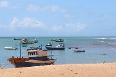 barcos azuis de descanso Foto de Stock