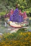 Barcos chinos - jardín botánico de Montreal fotos de archivo