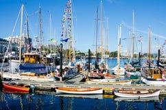 Barcos clásicos maravillosamente restaurados Imagenes de archivo