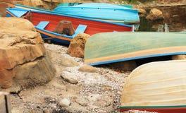 Barcos coloridos imagem de stock royalty free