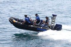 Barcos da alfândega foto de stock