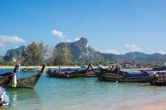 Barcos da cauda longa Foto de Stock