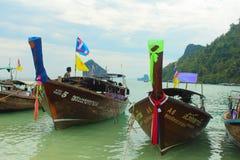Barcos da cauda longa Fotos de Stock