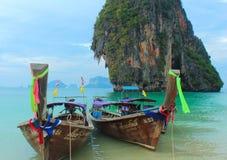 Barcos da cauda longa Imagens de Stock