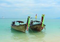 Barcos da cauda longa Fotografia de Stock