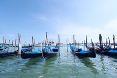Barcos da gôndola de Veneza Foto de Stock Royalty Free