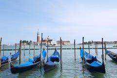 Barcos da gôndola de Veneza Fotos de Stock
