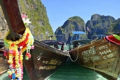Barcos da Longo-cauda de Tailândia Foto de Stock Royalty Free