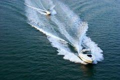 Barcos da potência Foto de Stock