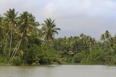 Barcos das marés de Allepey no estado de Kerala, Índia Fotografia de Stock