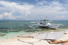 Barcos de Banka, Bohol, Filipinas Foto de Stock