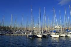 Barcos de Barcelona Imagenes de archivo