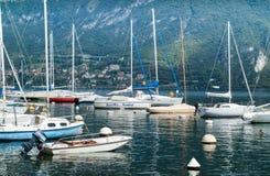 Barcos de Bellagio Foto de Stock