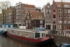 Barcos de canal, Amsterdão Foto de Stock Royalty Free