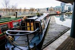 Barcos de canal de Edimburgo Imagen de archivo libre de regalías