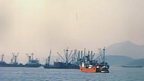 Barcos de carga de Hong Kong vídeos de arquivo