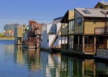 Barcos de casa de Victoria Imagen de archivo