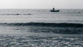 Barcos de Clamming Fotos de archivo