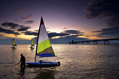 Barcos de Clevedon Foto de archivo