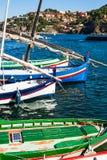 Barcos de Colliure Foto de archivo