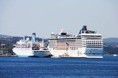 Barcos de cruceros Fotografía de archivo
