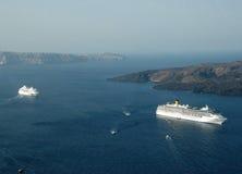 Barcos de cruceros Foto de archivo libre de regalías