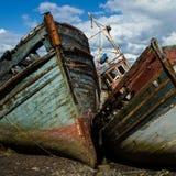 Barcos de decaimiento Imágenes de archivo libres de regalías