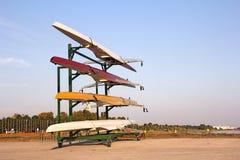 Barcos de enfileiramento Imagem de Stock