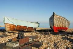 Barcos de enfileiramento Fotografia de Stock