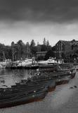 Barcos de enfileiramento no lago Windermere Foto de Stock Royalty Free