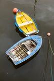 Barcos de enfileiramento velhos Fotografia de Stock