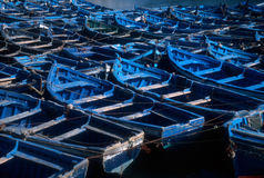 Barcos de Essaouira, Marrocos Imagens de Stock Royalty Free