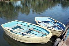 Barcos de fila Fotografía de archivo libre de regalías